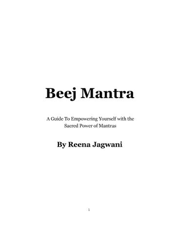 Beej Mantra - The Power of Chanting Mantras