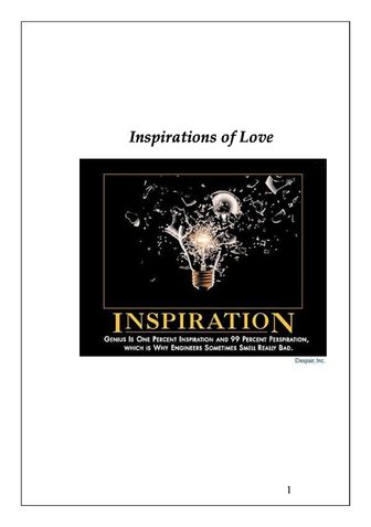 Inspirations of Love