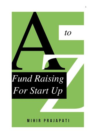A to Z of Fund Raising For Start Up