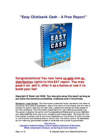 """Easy Clickbank Cash"