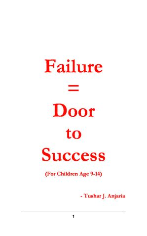 Failure = Door to Success