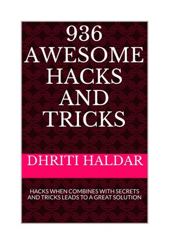 936 AWESOME HACKS AND TRICKS