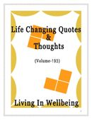 Life Changing Quotes & Thoughts (Volume 193)