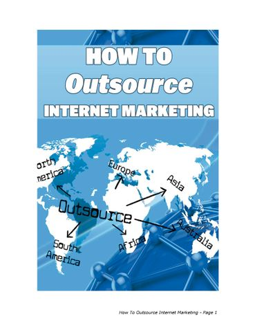 Outsource Internet Marketing