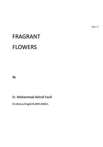FRAGRANT FLOWERS (Revised)