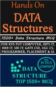 Hands on Data Structures & Algorithms 1500+ MCQ e-Book