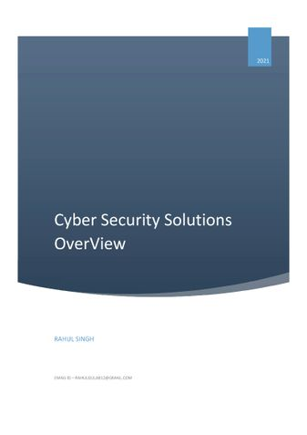 Cyber Security Solutions Overview