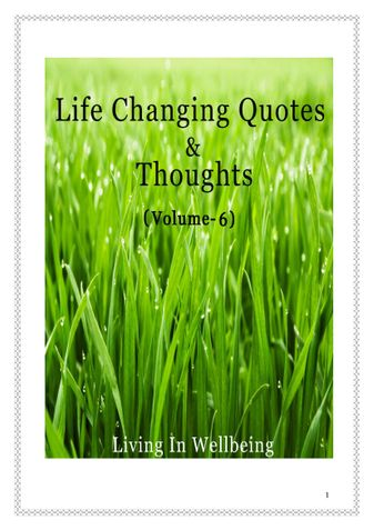 Life Changing Quotes & Thoughts (Volume 6)