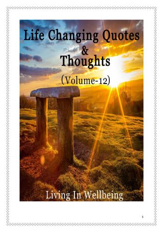 Life Changing Quotes & Thoughts (Volume 12)