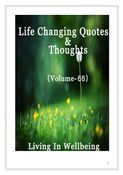 Life Changing Quotes & Thoughts (Volume 66)