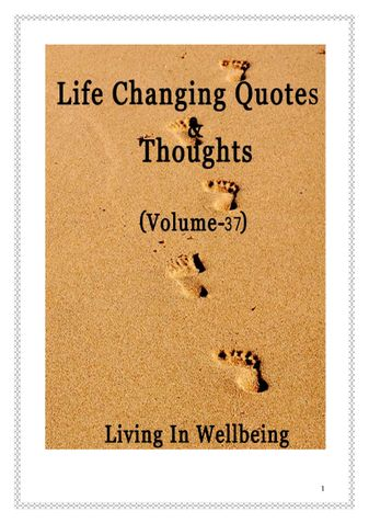 Life Changing Quotes & Thoughts (Volume 37)