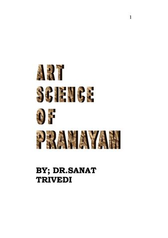 ART AND SCIENCE OF PRANAYAMA