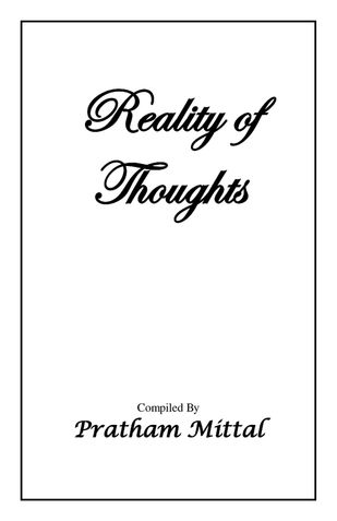 REALITY OF THOUGHTS