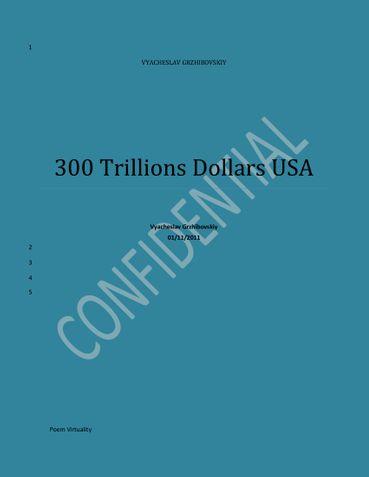 300 Trillions Dollars USA