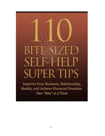 110 BITE-SIZED SELF-HELP SUPER TIPS