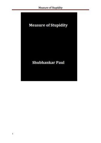Measure of Stupidity