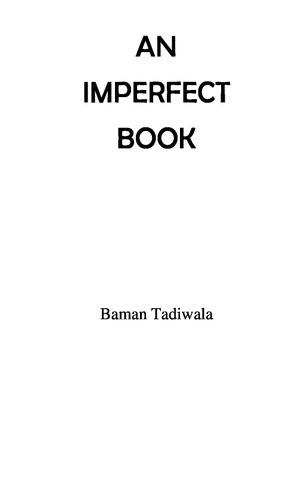 An Imperfect Book: A Book of 79 Inspirational Gems