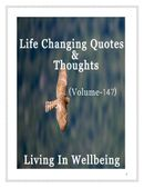 Life Changing Quotes & Thoughts (Volume 147)
