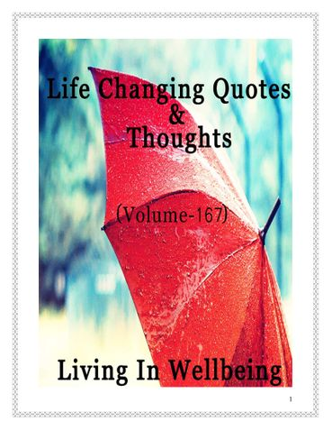 Life Changing Quotes & Thoughts (Volume 167)