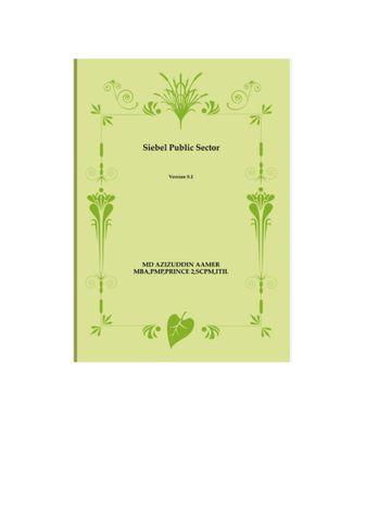 Siebel Public Sector 8 Guide