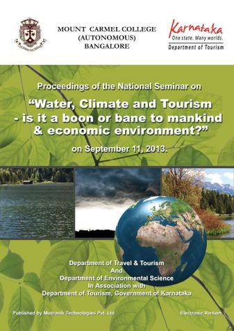 """Proceedings of the National Seminar on """"Water, Climate and Tourism - is it a boon or bane to mankind & economic environment?"""""""