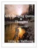 Life Changing Quotes & Thoughts (Volume 135)
