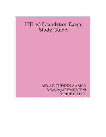 ITIL v3 Foundation Exam Study Guide