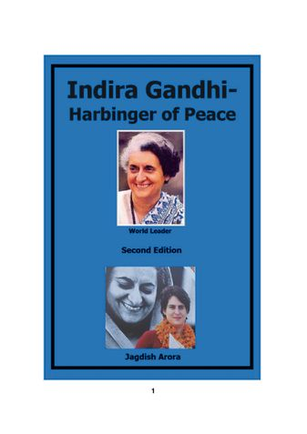 Indira Gandhi-Harbinger of Peace
