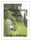 Life Changing Quotes & Thoughts (Volume 131)