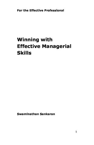 Winning with Effective Managerial Skills