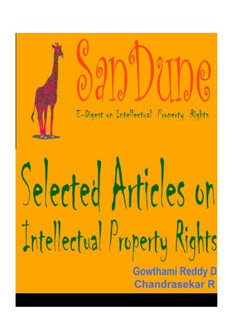 Selected Articles on Intellectual Property Rights [IPR]