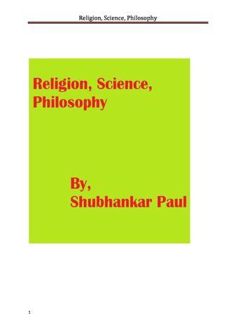 Religion, Science, Philosophy