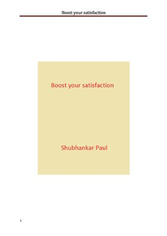 Boost your satisfaction