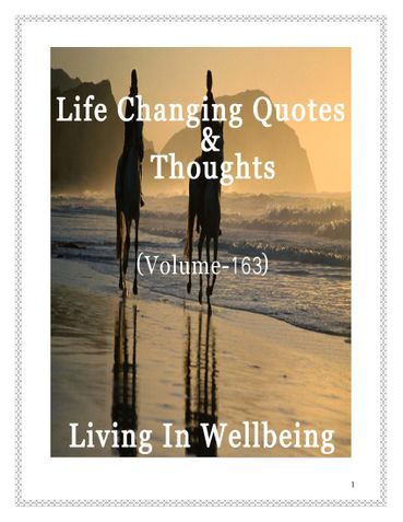 Life Changing Quotes & Thoughts (Volume 163)