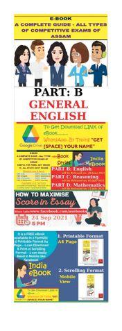 PART B: GENERAL ENGLISH