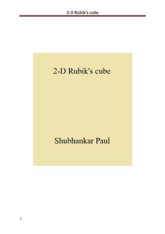 2-D Rubik's cube