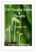 Life Changing Quotes & Thoughts (Volume 64)