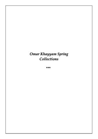 Omar Khayyam Spring Poetry Collections