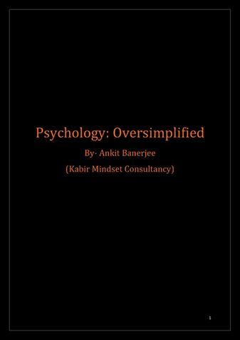 Psychology: Oversimplified
