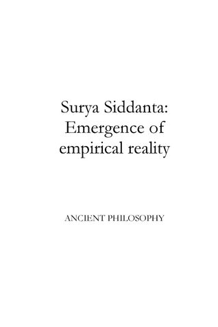 Surya Siddanta: Emergence of empirical reality