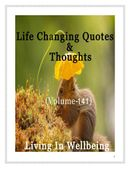 Life Changing Quotes & Thoughts (Volume 141)