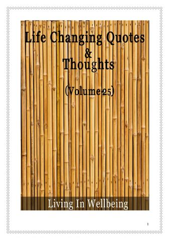 Life Changing Quotes & Thoughts (Volume25)