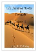 Life Changing Quotes & Thoughts (Volume 43)