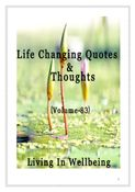 Life Changing Quotes & Thoughts (Volume 83)