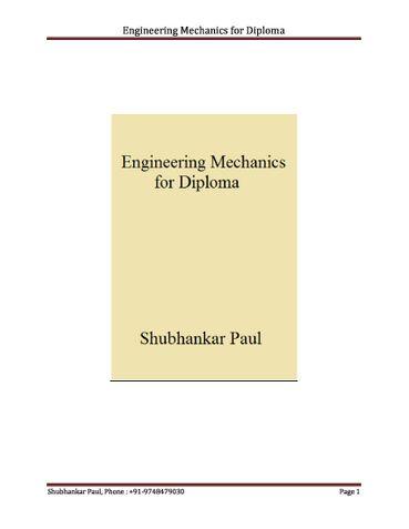 Engineering Mechanics for Diploma