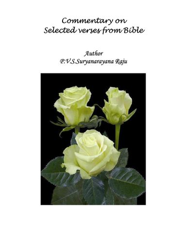 Commentary of selected versus from Bible