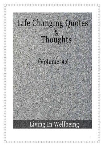Life Changing Quotes & Thoughts (Volume 40)
