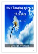 Life Changing Quotes & Thoughts (Volume 13)