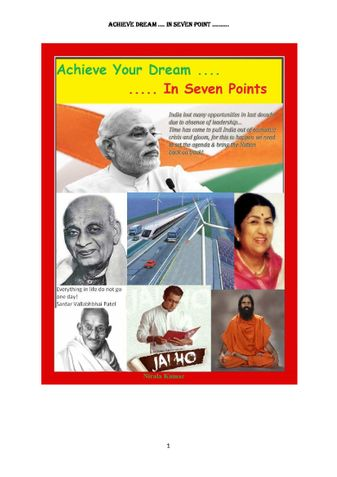 Achieve Your Dream ... In Seven Points