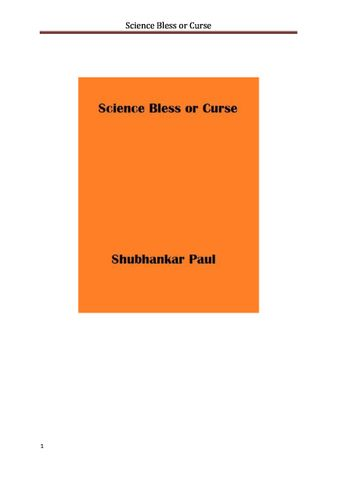 Science Bless or Curse